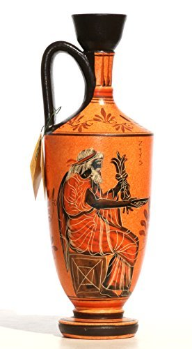 Antike griechische Keramik Vase Topf Schiff Lekythos Göttin Athena Gottes Zeus 10.2& # X384; & # X384; - Griechische Vasen
