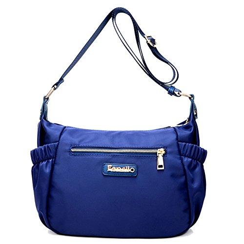 Ladies singola borsa a tracolla,messenger bag,borsa di tela-Blu Blu