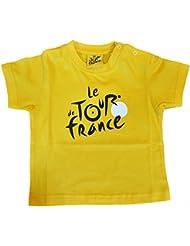 Bebé Le Tour de France de ciclismo–Camiseta oficial–Talla bebé niño, color amarillo, tamaño 3 meses