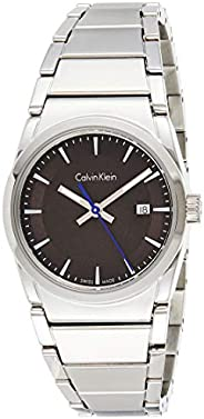 Calvin Klein K6K33143 Womens Quartz Watch, Analog Display and Stainless Steel Strap - Black