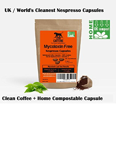 Lean Caffeine Bulletproof Coffee Pods Bulletproof Coffee Capsules (40) | Pesticide & Mycotoxin Free | Home Compostable Coffee Pods Capsules | Biodegradable Nespresso Coffee Capsules / Eco Coffee Pods