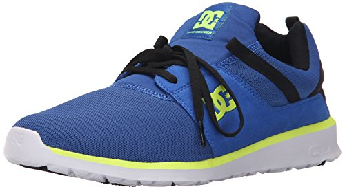 DC Heathrow Skate Shoe, Black/Grey/Green, 14 M US Blue/black/yellow