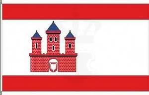 Königsbanner Hochformatflagge Rendsburg - 120 x 300cm - Flagge und Fahne
