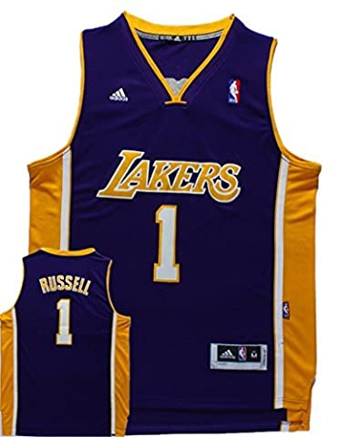 Lakers 1 D'Angelo Russell Purple New Revolution 30 Swingman Jersey Size-XL by Simona