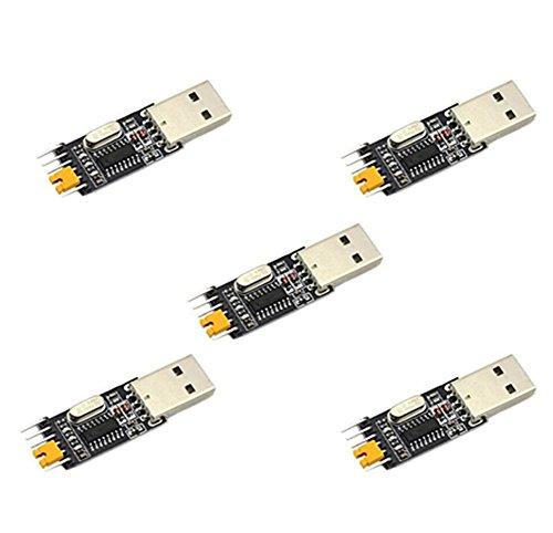 5x Demarkt CH340 Chip Modul Rüsten Sie kleine Platte USB-Seriell Pinsel Bord Modul STC-Mikrocontroller-Download-Kabel USB zu TTL-Chips Modul