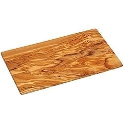 kremers 7105hierbas-Tabla de cortar, madera de olivo, natural, 19cm