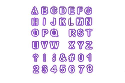 Fondant Ausstecher Buchstaben, eLander Alphabet Ausstecher/ Ausstechformen für Fondant [40 Teile] - mit Zahlen, Satzzeichen und Buchstaben - Backzubehör Kuchendekoration, Modellierwerkzeug, Ausstechformen