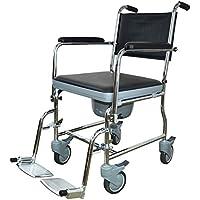 SXRL Inodoro con Ruedas con Pedal y Orinal Desmontable Sillón de Inodoro sillas con Ruedas para