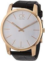 Calvin Klein Calvin Klein City K2G21629 PVD rosagold - Reloj analógico de cuarzo para hombre, correa de cuero color marrón de Calvin Klein