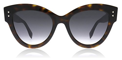 Fendi ff 0266/s 9o 086 52 occhiali da sole, marrone (dark havana/brown), donna