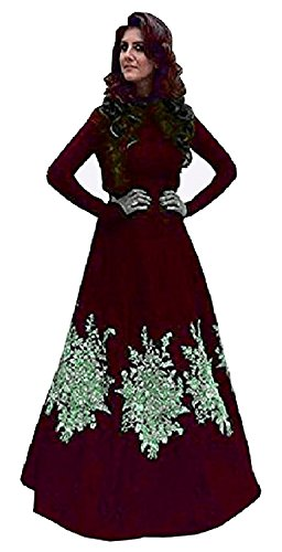 I-Brand-Womens-Tapeta-Silk-Fabric-Embroidery-party-wear-Gown