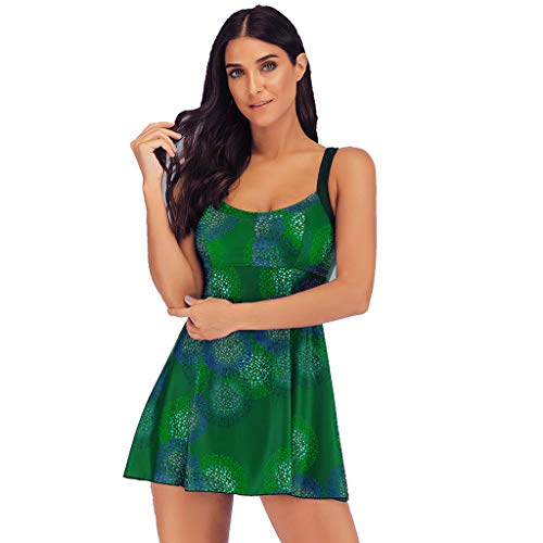 Linkay Daman Bademode Sommer Übergröße Bikinioberteil Badeanzug Beachwear gepolstert Bikini-Sets S-5XL Mode 2019 (Grün, XX-Large)