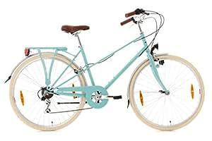 """KS Cycling Marseille Vélo de ville 28"""" Femme Turquoise TC 48 cm"""