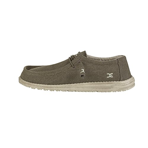 Dude Shoes Men's Wally Classic Olive UK8/EU42 -