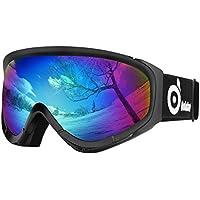 Odoland Lunettes de Ski Masque de Snowboard pour Homme   Femme Anti-UV400,  Anti 4b0fe2bfcb8e