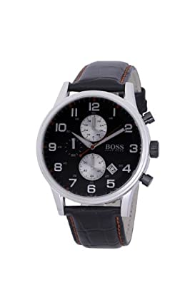 Hugo Boss Gents Modern 1512631 - Reloj cronógrafo de cuarzo para hombre, correa de cuero color negro (cronómetro) de Hugo Boss