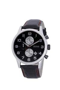 Hugo Boss - 1512631 - Montre Homme - Quartz Analogique - Cadran - Bracelet Cuir Noir