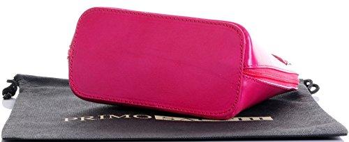 In pelle italiana, Small/Micro croce corpo borsa o borsetta borsa a tracolla.Include una custodia protettiva di marca. Rosa