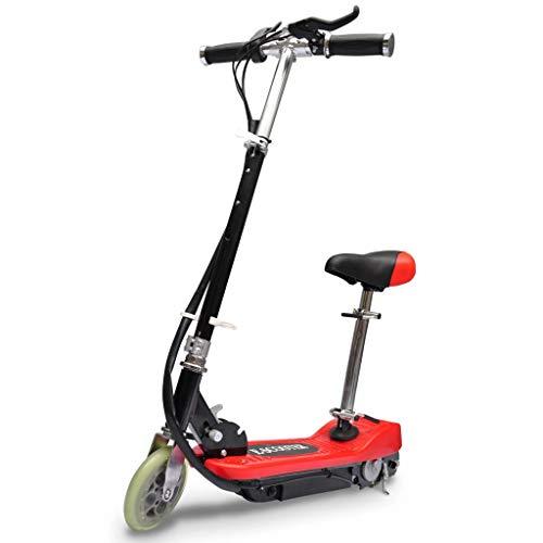 vidaXL Patinete Eléctrico con Asiento de Niños 120 W Rojo Scooter Monopatín
