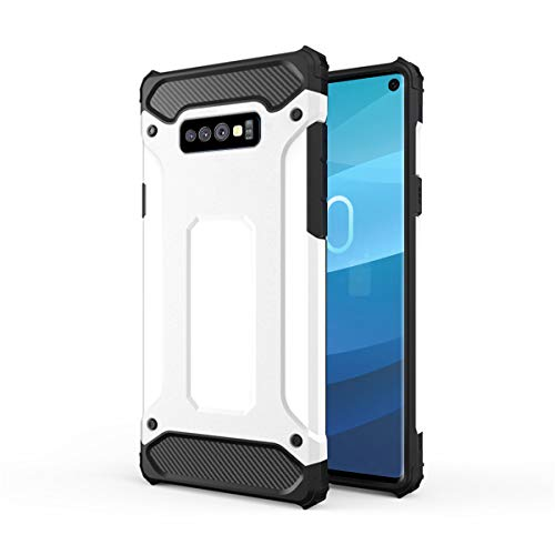 Forhouse Hülle Durable Protective Case Hülle, Thin Anti-Scratch Skin Back Hülle Full Cover für Samsung Galaxy S10 Lite - White