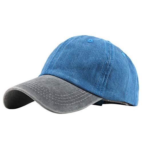 Beiläufige Sonnenhut Cap für Männer und FrauenBaumwolle Baseball Cap,Sommer Damen Herren zweifarbige Schirmmütze Sport Mütze Outdoor Lässig Hip Hop Basecap ()
