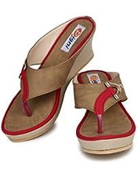 DIGNI Casual Comfortable Lace Up Women's Western Heel Open Toe Sandal For Women    Cutout Open Peep Toe High Platform... - B0794WJ81L