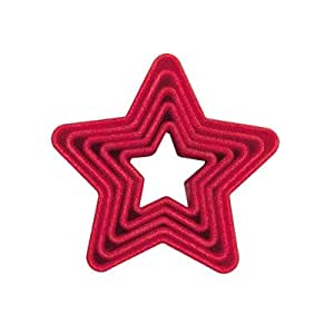 Set of 5 Red Star Christmas Cookie Cutters by Tala