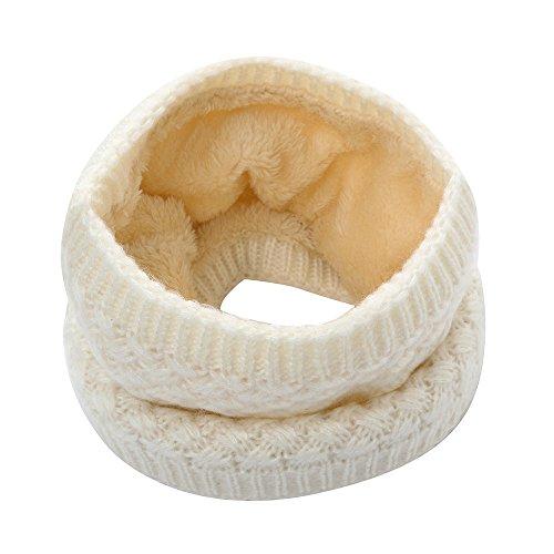 TUDUZ Warmer Feinstrick Loop Schal mit Flecht Muster und sehr weichem Innenfutter, Schlauchschal, Unisex Strick Kragen