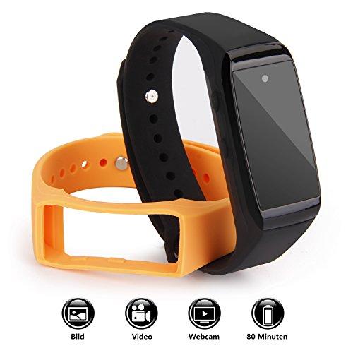 ieGeek Spionage Armband Überwachungskamera, 1080P tragbare HD Mini Intelligentes Kamera, Soundrecorder/Diktiergerät, Tragbar ausblenden Spy Uhr - Sie Die Uhrzeit ändern Datum Und Das