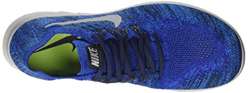 Nike Free RN Flyknit 2017, Scarpe Running Uomo Blu (Deep Royal Blue/photo Blue/pure Platinum/wolf Grey)