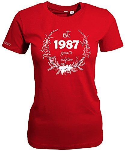 1987 GROWN TO PERFECTION - WOMEN T-SHIRT Rot