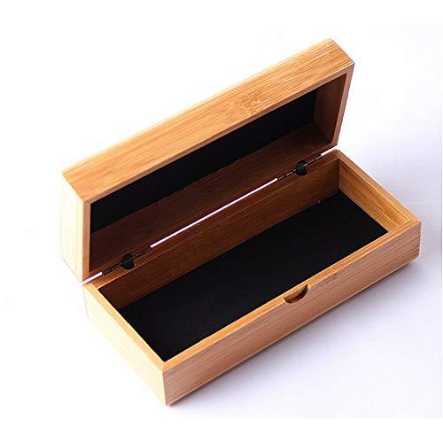 AFCITY Brillenetui Brillenetui Handgemachte natürliche Bambus Gläser Fall Umwelt Cuboid Gläser Box für Holz Bambus Sonnenbrille Gläser Aufbewahrungsbox für Brillen und Sonnenbrillen