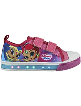 Cerdá Zapatillas con Luces Shimmer and Shine - Bambas de Lona con Luz Shimmer & Shine Casual. Color Fucsia y Azul...