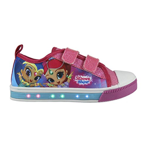 Cerd-Zapatillas-con-Luces-Shimmer-and-Shine-Bambas-de-Lona-con-Luz-Shimmer-Shine-Casual-Color-Fucsia-y-Azul-Regalo