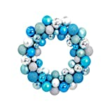 Questquo Christmas Wreath Ball Ornaments Shatterproof Front Door Window Hanging Xmas Decoration for Holiday Event Indoor Outdoor Use Color D