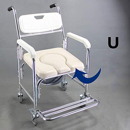 WG Toilettensitz Stuhl Ältere Menschen Bad Dusche mit Armlehnen Rückenlehne Toilettenstühle Duschstuhl Schwangere Frauen Spa Bank Bad Stuhl,A - Dusche Stuhl Für Menschen ältere
