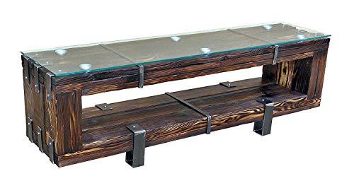 CHYRKA® Lowboard HiFi Massivholz TV Board BORYSLAW LEMBERG DROHOBYCZ Fernsehschrank Fernsehtisch TV Schrank (200 cm, BORYSLAW)