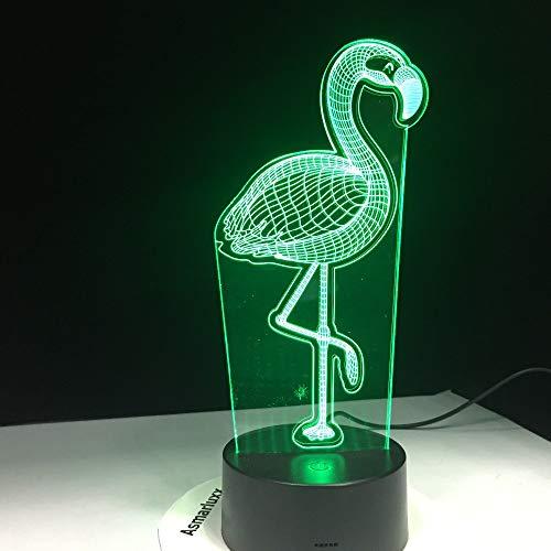 Xiujie Flamingo 3D Licht Kindergeburtstagsgeschenk Nachtlicht Mobile Power Licht Wireless Wand Dekoration Lampe Schlafzimmer Dekoration Farbe Wireless-wand-uhr