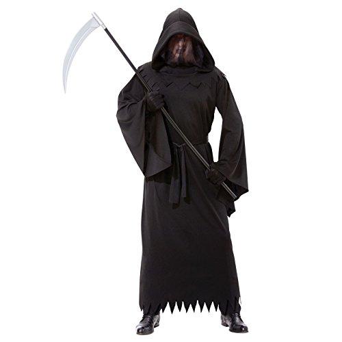 Herren Deluxe-Phantom Of Darkness, Sensenmann schwarz Mantel Herren Bademantel, Einheitsgröße, passend für die meisten - Deluxe Sensenmann Kostüm