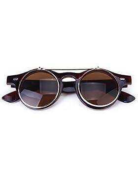 TOOGOO (R) Gafas Estilo Steampunk De Goth Del Vintage Gafas De Sol para Cosplay (marron oscuro)