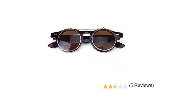 SODIAL(R) Lunettes Gothique Style de Steampunk Lunettes de Soleil Vintage  pour Cosplay (brun fonce)  Amazon.fr  Jeux et Jouets 456b0cfdb55f