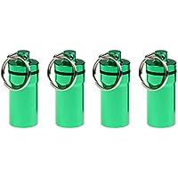 Baoblaze 4 Stück Praktische Kapsel/Pillendose wasserdicht Aufbewahrungsbox/Pillenbox als Schlüsselanhänger - Grün preisvergleich bei billige-tabletten.eu