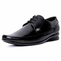 Valentino Mens Black Leather Formal Shoes - 8