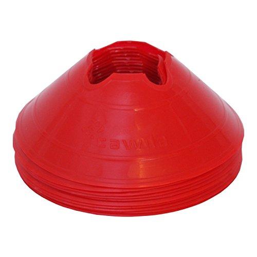 Cawila Hütchen Markierungsscheiben M, 10er Set, Rot, 6 cm, 00500133
