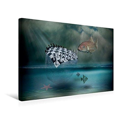 Premium Textil-Leinwand 45 cm x 30 cm quer, Ein Motiv aus dem Kalender Welt der Fantasie - Surreal, verträumt und grenzenlos   Wandbild, Bild auf Leinwand, Leinwanddruck (CALVENDO Kunst)