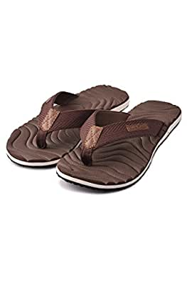 ace6c836293f86 Electra Men s Brown Color Thong-Style Slippers and Flip Flops  Buy ...