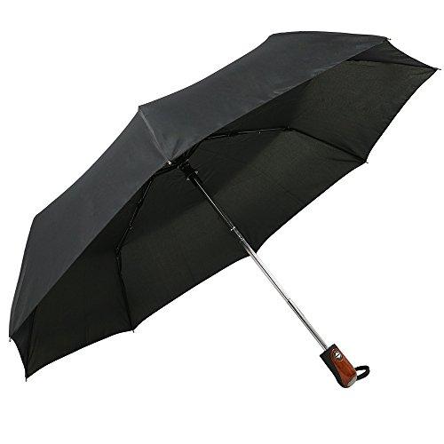 Asciugatura rapida Ada ombrello antivento ombrello pieghevole con apertura e chiusura automatica, Strong- in fibra di vetro maniglia ultra confortevole, black (nero) - adahome