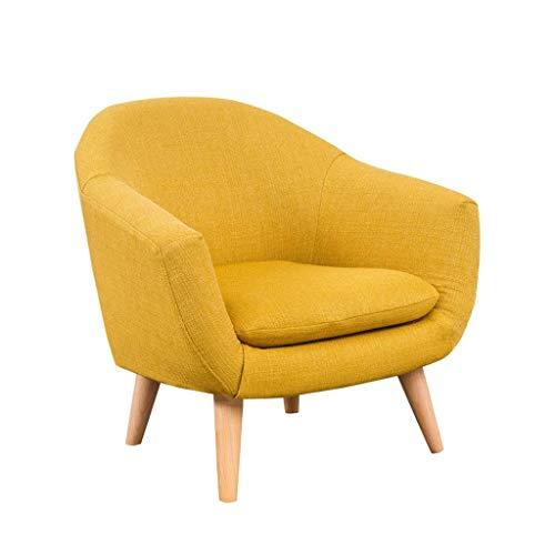 Kinder Sofa Candy-farbigen Baby-Mini Sessel, Sofa Einzelsitz, Komfortabler Sitz, ideal für 1-10 Jahre alt Jungen und Mädchen, 60 × 50 × 54cm-Gelb