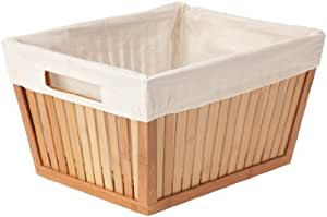 Rangement et Cie RAN4579 Panier Rectangulaire Bambou Moyen Modèle