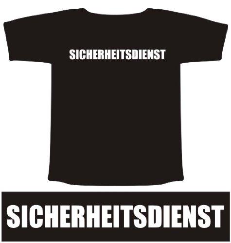 ROTH Marketing T-Shirt SICHERHEITSDIENST Funshirt Größe L